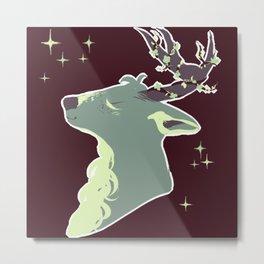 Mint Chip Deer Metal Print