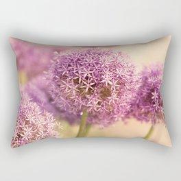 Great allium, friendly brighteamy summer garden wit Rectangular Pillow