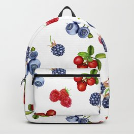 Juicy forest berries. Backpack
