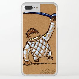 Fencing Ape: Sabre Clear iPhone Case