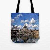 copenhagen Tote Bags featuring fountain copenhagen by  Agostino Lo Coco