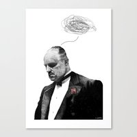 the godfather Canvas Prints featuring The Godfather by Printer's Devil