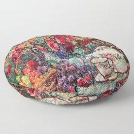 Vintage Tea Party Bouquet Floor Pillow