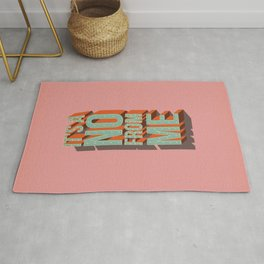It's a no from me, typography poster design Rug
