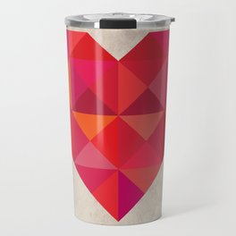 Heart geometry Travel Mug