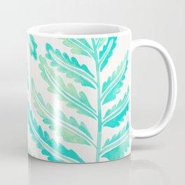 Fern Leaf – Turquoise Palette Coffee Mug