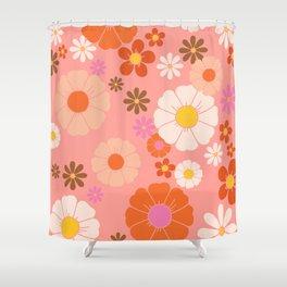 Groovy 60's Mod Flower Power Shower Curtain
