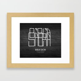 Biblia Sacra Framed Art Print