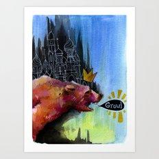 Growl Art Print