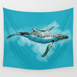 The beauty of a mothers love - Humpback Whales Wall Tapestry