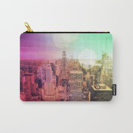New York City Rainbow Bokeh Carry-All Pouch