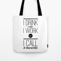 workout Tote Bags featuring WORKOUT by REASONandRHYME