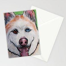 Red Siberian Husky Stationery Cards