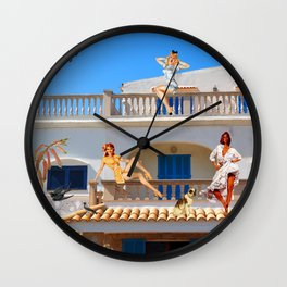 LIVING LA VIDA IN MEXICO  Wall Clock