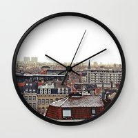 brussels Wall Clocks featuring Brussels by Anastasiia Prysiazhniuk