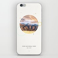 parks iPhone & iPod Skins featuring National Parks: Zion by Roadtrippers