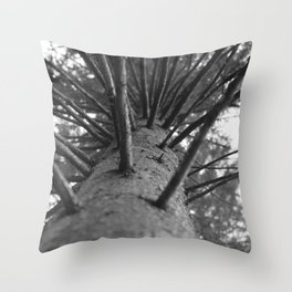 tree black and white photo Throw Pillow