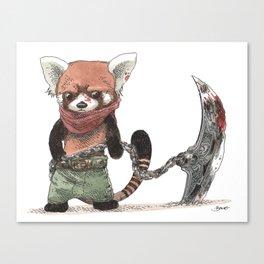 Panda Roux Barbare Canvas Print