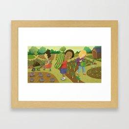 Down on the Allotment Framed Art Print