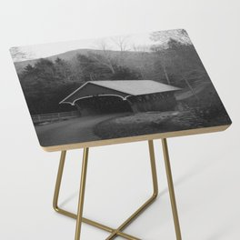 New England Classic Covered Bridge Side Table