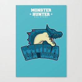 Monster Hunter All Stars - Moga Sea Dogs Canvas Print
