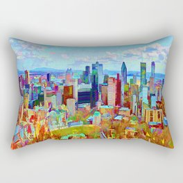 Montreal Skyline from Mount-Royal  Rectangular Pillow