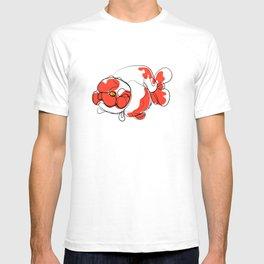 Ranchu Goldfish in Oneline Drawing T-shirt