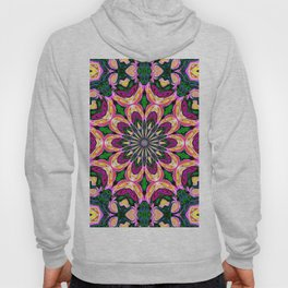 Abstract colorful Heart Flower Seamless Pattern Vector illustration Hoody