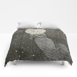 AROUND THE MOON - EMILE-ANTOINE BAYARD Comforters