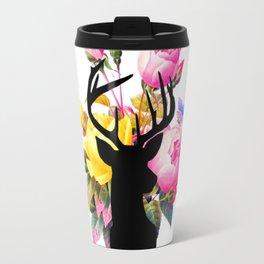 Floral Buck Travel Mug