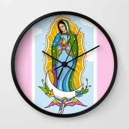 Virgen de Guadalupe Wall Clock