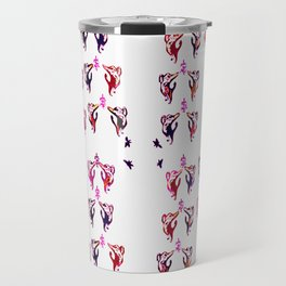 red purple cats Travel Mug