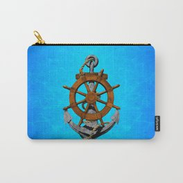 Nautical Ships Wheel And Anchor Carry-All Pouch