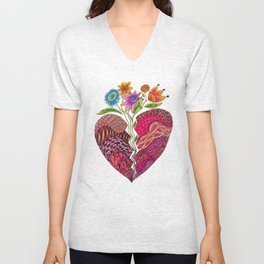 Broken Heart Unisex V-Neck