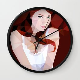 Autumn Red Wall Clock