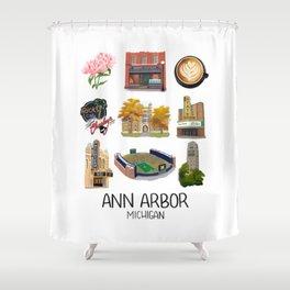 Ann Arbor, Michigan Shower Curtain