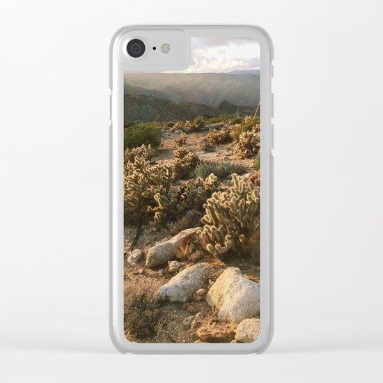 Borrego Desert Sunset Clear iPhone Case