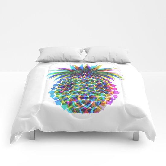Pineapple CMYK Comforters