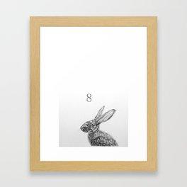 Rabbit eight Framed Art Print