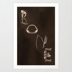 Bone Art Print