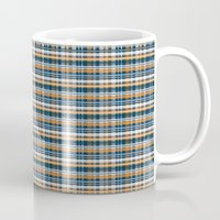 plaid Mugs featuring Plaid by Livia Rett