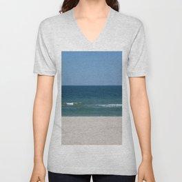 three colors of the summer sea beach Unisex V-Neck