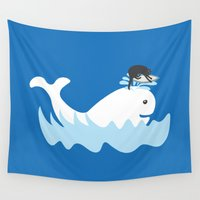 surf Wall Tapestries featuring Surf by Hagu