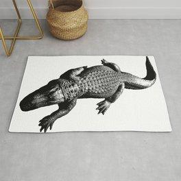 Alligators Love to Swim Rug