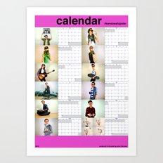 #kendoeshipster (2012 calendar) Art Print
