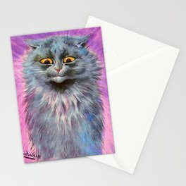 Russian Blue Cat - Louis Wain Cats Stationery Cards