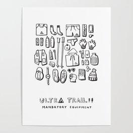 Ultra Trail - Mandatory Equipment Poster