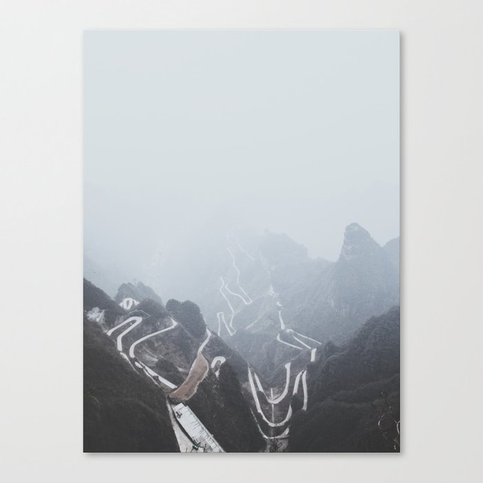 Tianmen Mountain, China Canvas Print