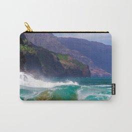 Napali Crashing Waves - Kauai Northshore Carry-All Pouch
