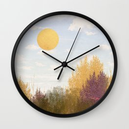 Nature's Grit Wall Clock